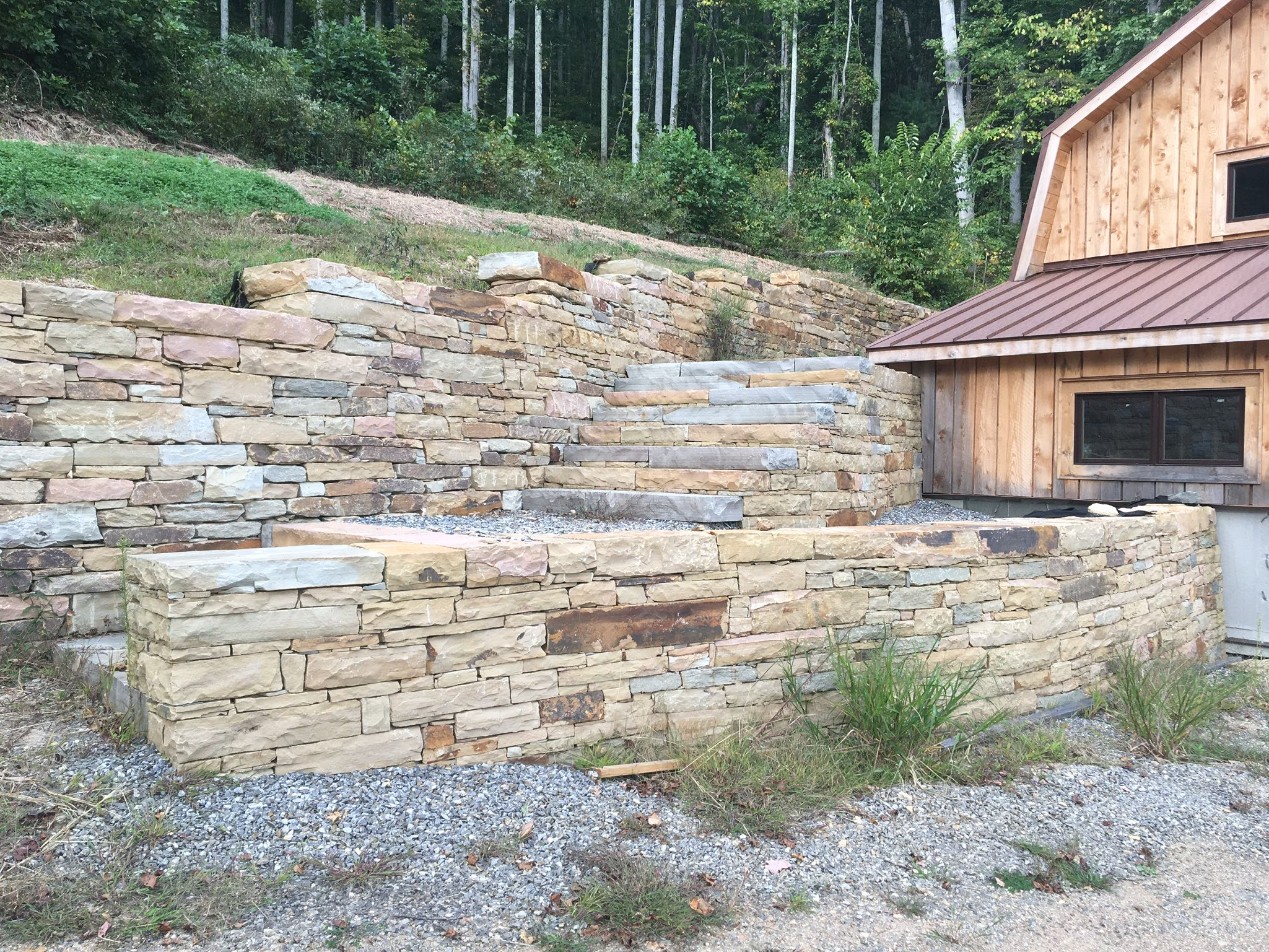 Reems Creek Retaining Wall | Corry and LaGrant Stoneworks