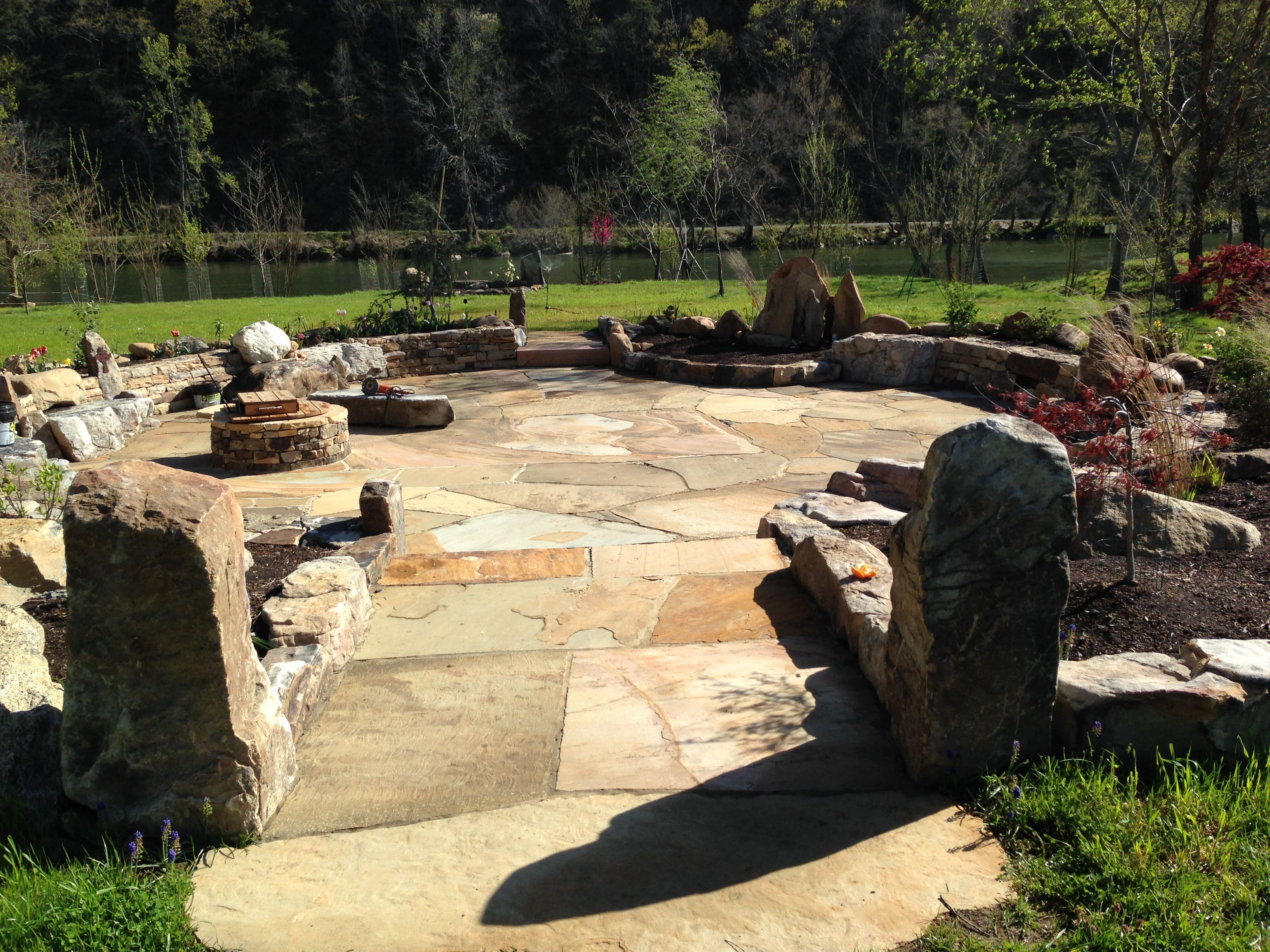 Hot Springs Memorial Patio | Corry and LaGrant Stoneworks